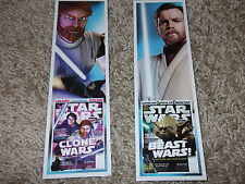 STAR WARS set of 2 Obi-Wan Kenobi promotional bookmarks Mint Ewan Mcgregor
