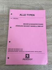 Werkstatthandbuch Peugeot alle Typen - Mehrfacheinspritzung / Zündung MM1AP