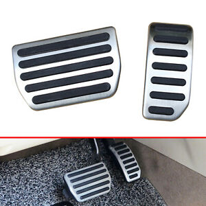 For Volvo S80 S60 V60 XC60 Automatic NO DRILL Gas Brake Pedal Cover Trim Steel