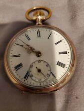 Cylinder 10 Steine Pocket Watch 800 Sterling Silver