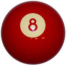 Red 8 Ball Shift Knob 3/8-24 thread U.S. Made