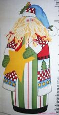 Christmas Santa Claus 100% Cotton Fabric St Nick Sewing Material Project Panel