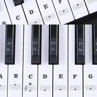 2x Piano Music Keyboard Stickers Speed memory of the-keys 49, 54 ,61 or 88-KEY
