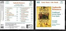 CD 1240  SEPHARDIC ROMANCES TRADITIONAL JEWISH MUSIC FROM SPAIN