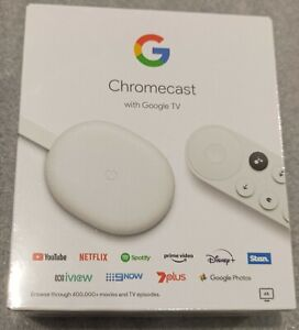 NEW GA01919-AU CHROMECAST with GOOGLE TV - SNOW