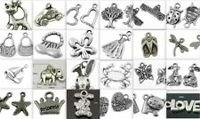 Charm Soup -170 pieces tibetan antique silver mixed charms CLEARANCE
