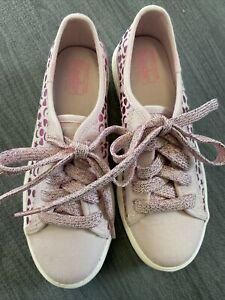 Keds Girls Size 12 Sneakers Purple Shapes Metallic Memory Foam