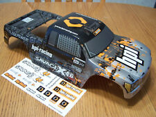 HPI Savage X 4.6 Silver Black Orange Factory Painted Truck Body Decal NITRO GT-3