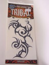 Tribal Black Tapped Out Temporary Tattoo Costume Accessory Halloween Decoration