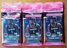 2019-20 Panini Mosaic Basketball Cello Bonus Pack 3 Pack Lot (45 Total Cards)