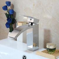 Waterfall Chrome Deck Mount Bathroom Basin Mixer Sink Faucet Single Handle Taps