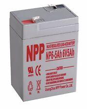 NPP 6V 5 Ah  6Volt 5 amp Rechargeable Sealed Lead Acid Battery
