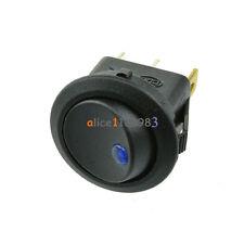 5Pcs 12V LED Dot Light Car Auto Boat Round Rocker ON-OFF Toggle Switch Blue