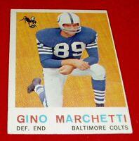 1959 FOOTBALL GINO MARCHETTI TOPPS CARD #109 VG/EX