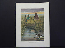 Vintage Camping Prints, Hand Colored c.1910 #11