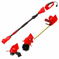 Sun Joe GTS4000E Lawn + Garden Multi-Tool Care System, Red