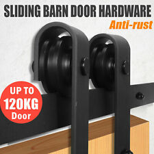 Slidin Barn Door Hardware Track Set Black Powder Coated interior Closet 2m