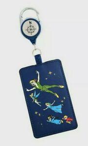 Disney Peter Pan Lanyard ID Card Holder Retractable Wendy Darling Tinker Bell