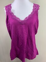 Covington Essentials Purple Lace Tank Top Cami Sleeveless Shirt XL