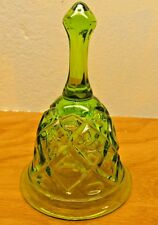 vintage green glass bell