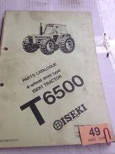 Iseki T6500 Parts Book