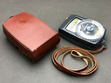 GOSSEN LUNASIX 3 Light Exposure Meter GERMANY with CASE and Strap TESTED