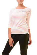 Sundry Women's NBW Long Sleeve Top Palm Tree Pink/White Size US 1 RRP $85 BCF77