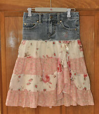 Girl's Skirt Denim with Floral Size 4 by Candie's So Adorable Great Condition
