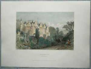 1839 Allom print SCOTLAND: ABBOTSFORD HOUSE, HOME OF SIR WALTER SCOTT (#3)