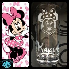 Personalised Minnie Mouse Disney Highball Glass FREE Name Engraved Gift For Her