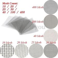 10/20/25/30/40/100/400 Mesh 304 Stainless Steel Woven Wire Filter Sheet 12x12''