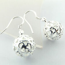 EARRINGS DROPS REAL 925 STERLING SILVER S/F ANTIQUE FILIGREE BEAD DESIGN FS3A435