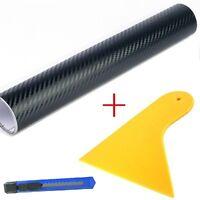 3 Teile  - Set Rakel + Folienmesser + 3D Carbon Folien Schwarz - 12EUR/m²