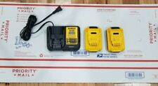 {2} DEWALT DCB203 20-Volt MAX Compact XR Lithium-Ion Battery And DCB112 Charger