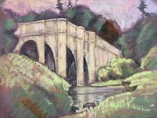 More details for antique landscape  pastel painting