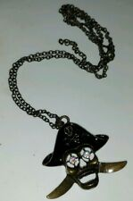 Pirates Skull Necklace Pendant Key Chain  Gift