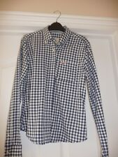 Hollister Girls Blue & White Check Shirt In Small - VGC- FAST DISP!!