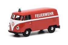 """VW t1 coche recuadro """"bomberos"""" Art 452016100, Schuco auto modelo 1:64"""
