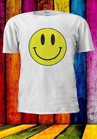 Acid Smiley Face Yellow House Rave Music 70's 80's Men Women Unisex T-shirt 914