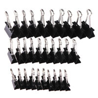 10 pcs Black Metal Binder Clips Notes Letter Paper Clip Binding Securing clip LO