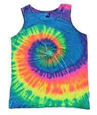 Multi-Color Tie Dye Tank Tops Sleeveless T-Shirts  Adult S to XXXL Cotton