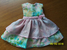 "Pastel Eyelet Flowers Dress made to fit BFC Ink 18""  slim hard body Dolls"