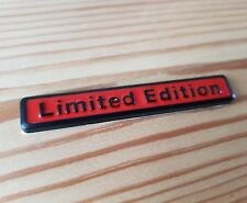 Black & Red 3D Metal Limited Edition Badge fits VW Scirocco Jetta Bora Beetle GT