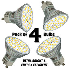 Pack de 4x Bombillas LED GU10 blanco día 6.5 W lámparas SMD5050 Cool Spot Luz brillante