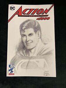 ACTION COMICS #1000 CURT SWAN SKETCH B&W EXCLUSIVE SUPERMAN 1