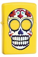 Zippo 24894 skull day of the dead lemon finish Lighter