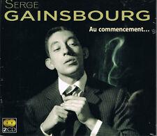 SERGE GAINSBOURG - AU COMMENCEMENT... - COFFRET 2 CD - 30 TITRES - NEUF NEW NEU