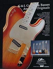 1992 G+L Commemorative S-500 SC-3 guitars ASAT L-2000 bass guitars print Ad