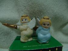 Vintage Ceramic Angel Candle Climbers 2 W/Orignal Box