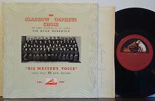 """GLASGOW ORPHEUS CHOIR Volume 1 VERY RARE 1952 HMV 10"""" LP Scottish Folk UK IMPORT"""